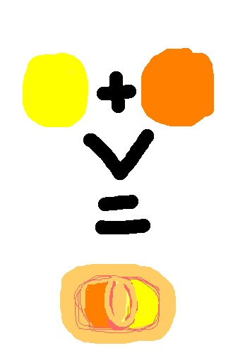 yellow plus orange equals cantelope